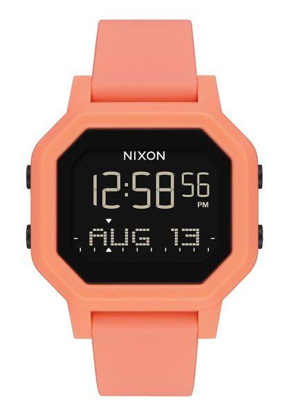 Nixon Uhren The Siren lighttangerine vorderansicht 0810388