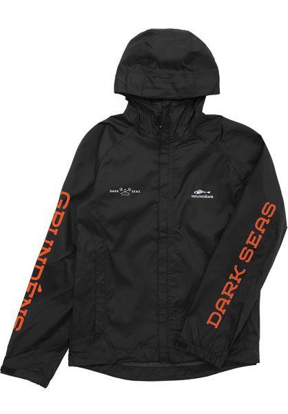 Dark Seas Übergangsjacken x Grundens Weather Watch Jacket black Vorderansicht