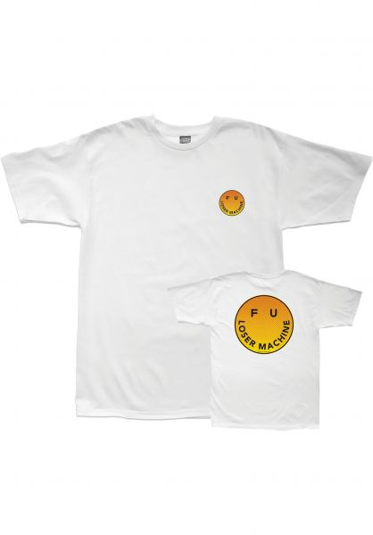 Loser-Machine T-Shirts Smile white Vorderansicht