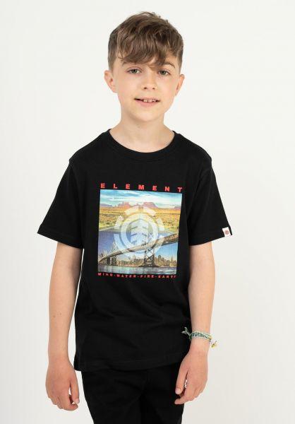 Element T-Shirts Peoria Kids flintblack vorderansicht 0323408