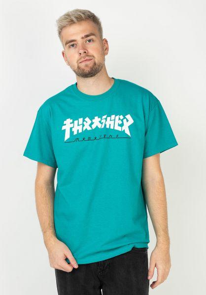 Thrasher T-Shirts Godzilla jade vorderansicht 0320359