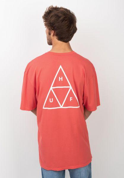HUF T-Shirts Triple Triangle cayenne vorderansicht 0390861