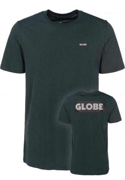 Globe T-Shirts Sticker II bottlegreen Vorderansicht