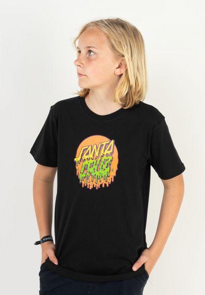 Santa-Cruz T-Shirts Youth Rad Dot black vorderansicht 0323319