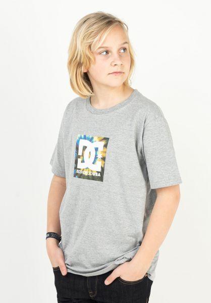DC Shoes T-Shirts Square Star Fill Kids heathergrey vorderansicht 0323293