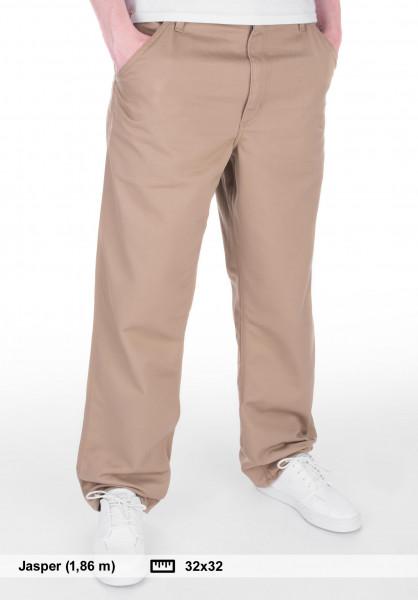 Carhartt WIP Chinos und Stoffhosen Simple Pant (Denison) leatherrinsed Vorderansicht