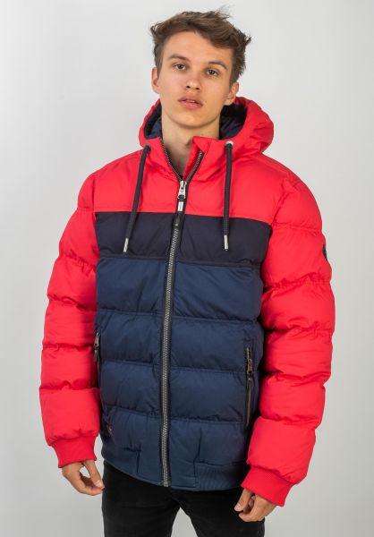Ragwear Winterjacken Ector red vorderansicht 0250115