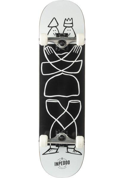 Inpeddo Skateboard komplett Lucas Beaufort white-black vorderansicht 0161520