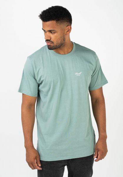 Reell T-Shirts Regular Logo T-Shirt patinagreen vorderansicht 0322557