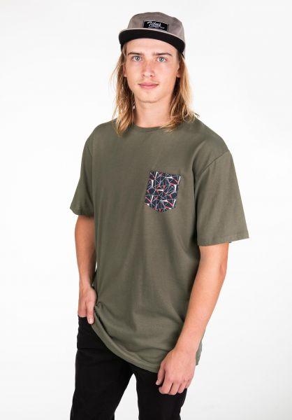 TITUS T-Shirts Graphic Pocket olive vorderansicht 0397636