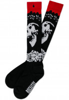 Rockasox-Socken-Dawn-Of-Decay-black-white-red-Vorderansicht