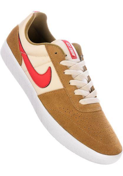 Nike SB Alle Schuhe Team Classic beige-red-lightcream vorderansicht 0604425