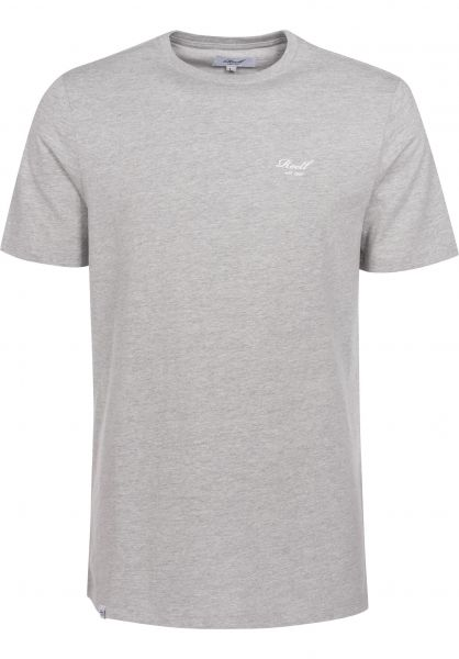 Reell T-Shirts Small Script heathergrey Vorderansicht