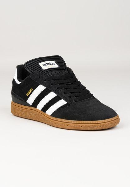adidas-skateboarding Alle Schuhe Busenitz Pro coreblack-white-gold vorderansicht 0601574