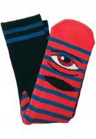 Toy-Machine-Socken-Sect-Eye-Stripe-red-blue-Vorderansicht