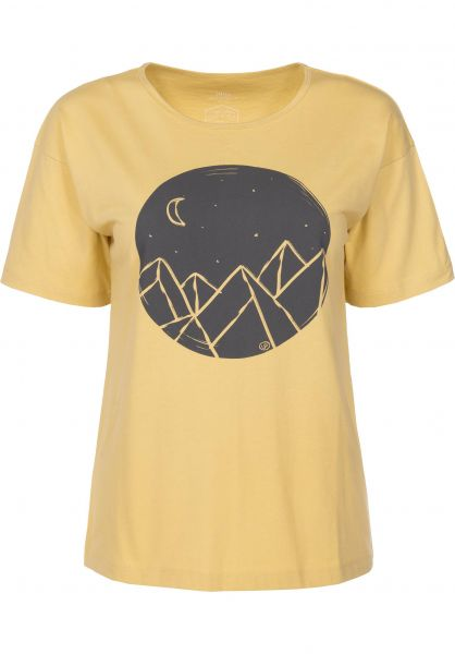 TITUS T-Shirts Mountain Girls faded-yellow Vorderansicht
