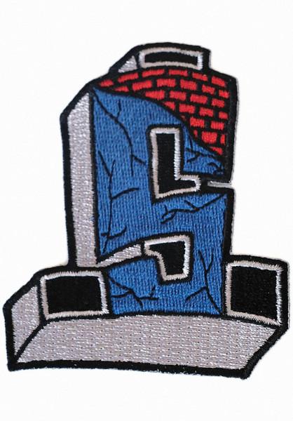 Dogtown Verschiedenes Suicidal Cross Patch blue-red Vorderansicht