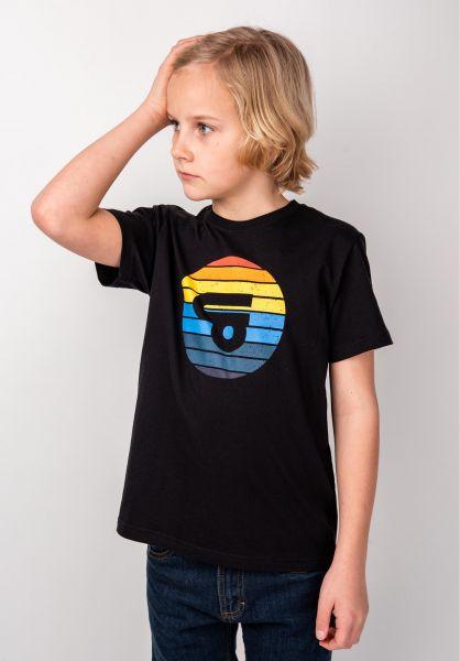TITUS T-Shirts Sunset Logo Kids black vorderansicht 0398389