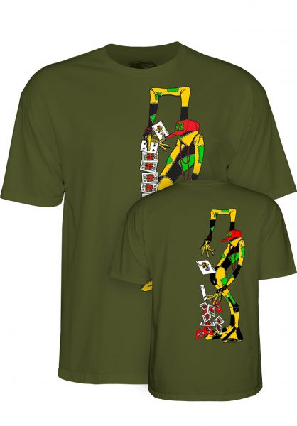 Powell-Peralta T-Shirts Ray Barbee Rag Doll military-green vorderansicht 0320227