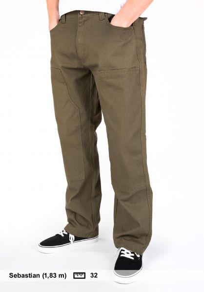 Plenty Humanwear Chinos und Stoffhosen Bill armygreen vorderansicht 0204099