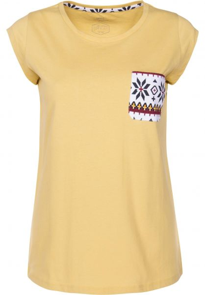 TITUS T-Shirts Nino faded yellow Vorderansicht