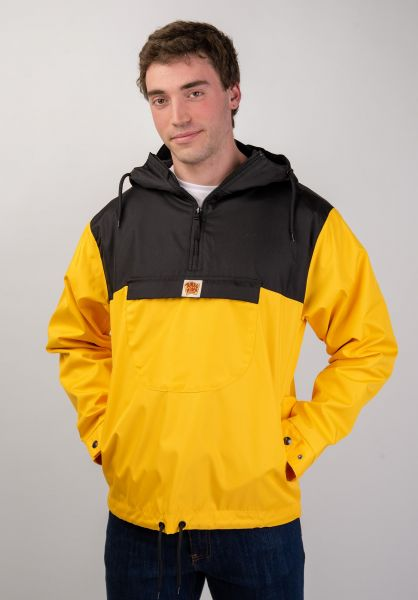 Turbokolor Windbreaker Freitag black-yellow vorderansicht 0122475