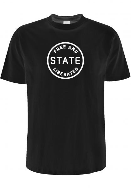 State T-Shirts Free And Liberated black vorderansicht 0383338