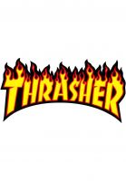 Thrasher-Verschiedenes-Flame-Sticker-Large-yellow-Vorderansicht