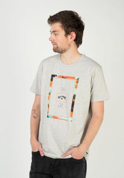 Billabong T-Shirts Tucked greyheather vorderansicht 0399905