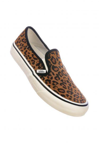 Vans Alle Schuhe Classic Slip-On suedeleopard-chipmunk-marshmallow vorderansicht 0612264