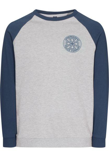 Independent Sweatshirts und Pullover I.T.C. indigoheather-heathergrey vorderansicht 0421870