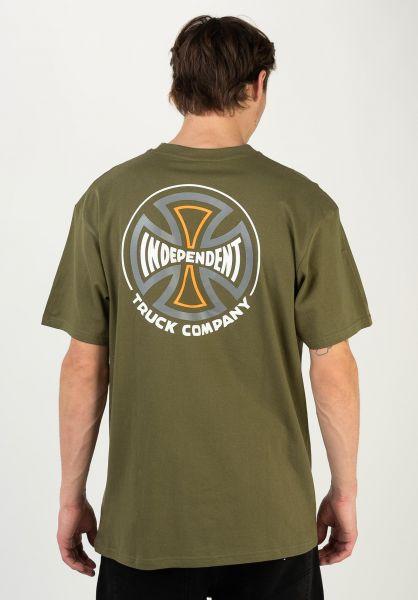 Independent T-Shirts Converge armygreen vorderansicht 0322545