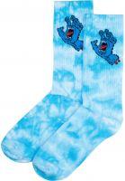 santa-cruz-socken-screaming-hand-tie-dye-blue-tiedye-vorderansicht-0632234