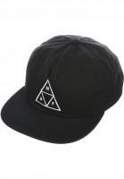 HUF-Caps-Triple-Triangle-Snapback-black-black-Vorderansicht