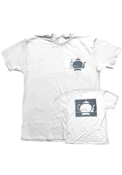 Foundation T-Shirts Teapot white Vorderansicht