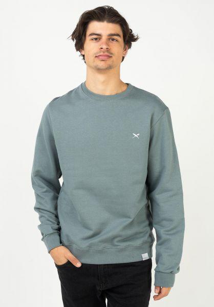iriedaily Sweatshirts und Pullover Mini Flag Crew steelgrey vorderansicht 0422871