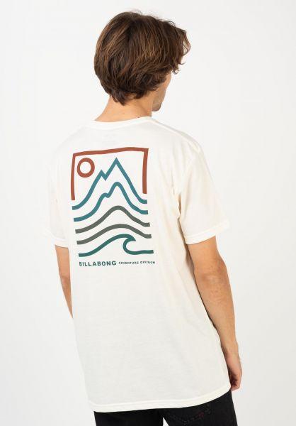 Billabong T-Shirts Peak offwhite vorderansicht 0322652