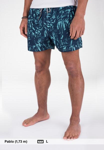 Cleptomanicx Beachwear Jam Pattern dustyturquoise Vorderansicht