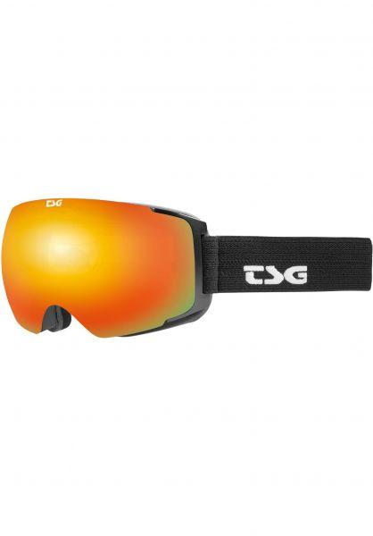 TSG Snowboard-Brille Goggle Two solid black-red chrome Vorderansicht 0340124