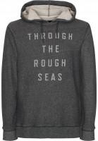 Makia Hoodies Rough Seas grey Vorderansicht