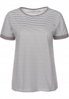 TITUS T-Shirts Rina grey-striped Vorderansicht