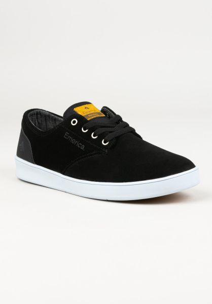 Emerica Alle Schuhe Romero Laced black-black-white vorderansicht 0604456