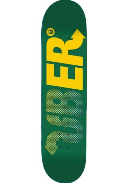 ÜBER Skateboard Decks Way green-yellow-lightblue vorderansicht 0261917