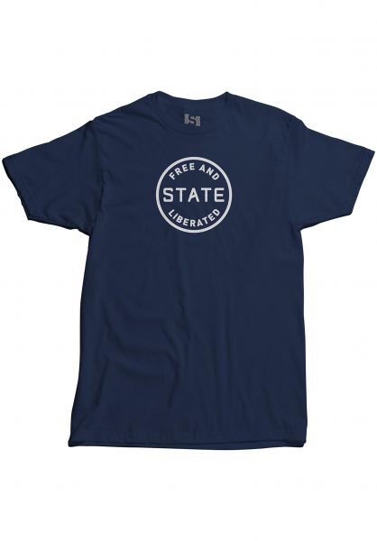 State T-Shirts Free And Liberated navy vorderansicht 0383338