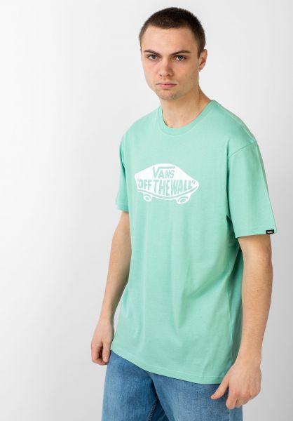 Vans T-Shirts OTW dustyjadegreen-white vorderansicht 0036985