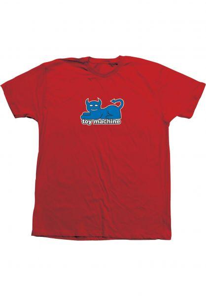 Toy-Machine T-Shirts Devil Cat 19 90's red-blue vorderansicht 0320033