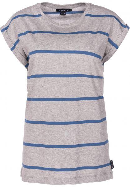 Ezekiel T-Shirts Aurora heathergrey-stripe vorderansicht 0398622