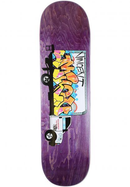 Pizza Skateboards Skateboard Decks Vincent Milou Graffiti various stains vorderansicht 0268150