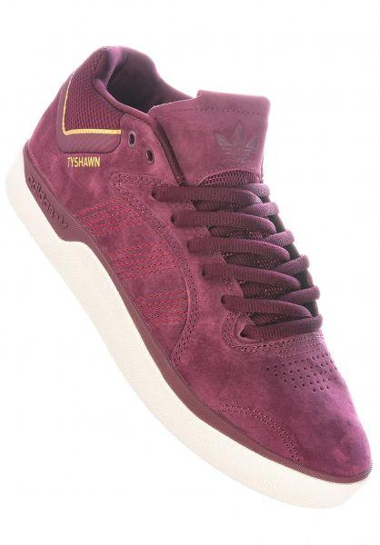 adidas-skateboarding Alle Schuhe Tyshawn maroon-chalkwhite-goldmetallic vorderansicht 0604654