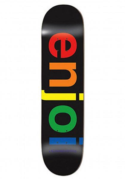 Enjoi Skateboard Decks Spectrum R7 black Vorderansicht